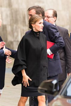 Queen Letizia of Spain attends the opening of the exhibition 'Zurbaran, Master The Details' at Kunstpalast Museum on October 9, 2015 in Duesseldorf, Germany.