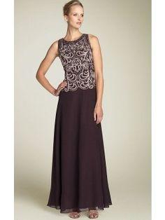 Charming Purple Sheath Floor-length Jewel Dress