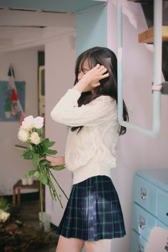 *.˚✧ Ulzzang ✧˚.* *.˚✧ Milkcacao ✧˚.*Love this skirt, reminds me of high school