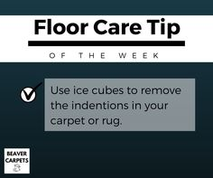 Floor care #tip: use ice cubes.