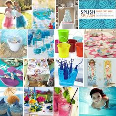 mermaid party or pool party Birthday Fun, Birthday Party Themes, Birthday Ideas, Mermaid Birthday, Luau, Lila Party, Party Fiesta, Little Mermaid Parties, Water Party