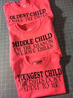 Sibling shirts on the Rules by MosaicRainbow on Etsy