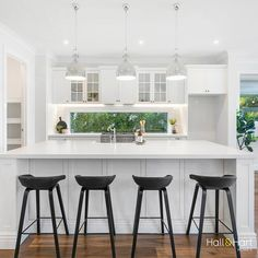 Elyse Double Storey Home Design - Hall & Hart Homes Hamptons Kitchen, The Hamptons, Storey Homes, Building Companies, Living Room Kitchen, Kitchen Inspiration, Ground Floor, Custom Homes, Kitchens