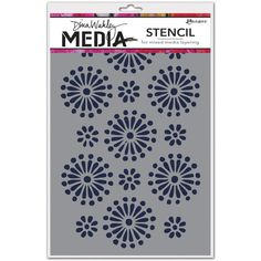 Ranger - New Stencils - Create layers of colors, texture and design with 12 Media Stencils and 3 Media Masks from Dina Wakley. Use with Dina Wakley Media Heavy Body Acrylic Paints and Mediums. Media Masks feature both positive and negative images.
