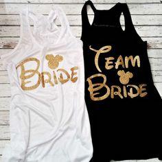 Team Bride Disney Minnie MouseBride Tribe by NTYSApparel on Etsy