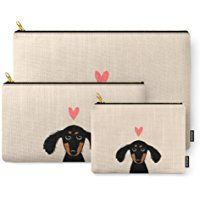 Society6 Dachshund Love Carry-All Pouch