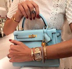 ea69496a04e Hermes kelly bag light blue Hermes Kelly Bag