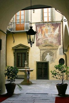 Florentine courtyard, Florence , province of Florence Tuscany region Italy