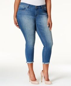 Jessica Simpson Plus Size Cabo Wash Cropped Skinny Jeans