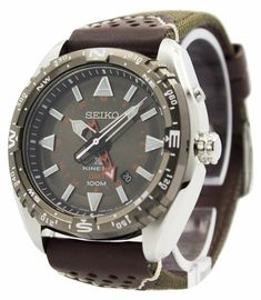 Incredible prices on Prospex watches like Seiko Prospex Kinetic GMT Men's Watch has Stainless Steel Case, Brown Leather Strap, Kinetic Movement, Calibre: Seiko 5 Sports Automatic, Automatic Watches For Men, Seiko Diver, General Motors, Seiko 5 Military, Seiko Sportura, Crown And Buckle, Authentic Watches, Seiko Watches