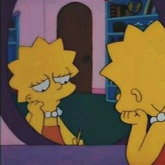 Lisa Simpsons - S a d [another despicable day] Simpson Wallpaper Iphone, Cartoon Wallpaper Iphone, Sad Wallpaper, Cute Cartoon Wallpapers, Aesthetic Iphone Wallpaper, Disney Wallpaper, Cartoon Profile Pics, Cartoon Profile Pictures, Cartoon Icons