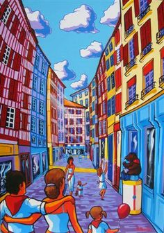 Erwin Dazelle Visit www.dazelleusa.com Times Square, Fair Grounds, France, Fun, Painting, Travel, Photos, Drawings, Basque Country