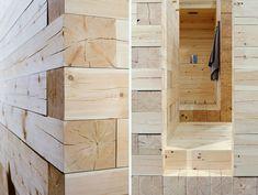 Ihastuttava saunaidea Avanto Arkkitehdeiltä. Rakastan tuota ilmettä, jonka tarkasti päällekkäin pinotut tasaisen särmät hirret ...
