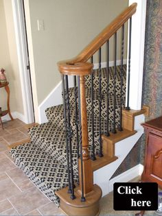 Best Change Carpet Wrapped Stairs With Wood End Caps Home 640 x 480