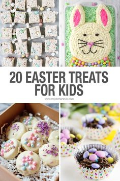 20 Easter recipes for kids and adults alike!! Easter Dishes, Easter Snacks, Easter Treats, Easter Recipes, Easter Food, Spring Recipes, Sweets Recipes, Easter Decor, Easy Desserts