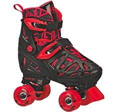 Amazon.com : Roller Derby 1378-02 Youth Boys Firestar Roller Skate, Size 2, Black/Gray : Sports & Outdoors Best Roller Skates, Outdoor Roller Skates, Kids Roller Skates, Roller Derby Skates, Roller Derby Girls, Kids Skates, Quad Skates, Speed Skates