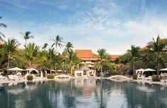 The serene freshwater pool at Westin Nusa Dua.