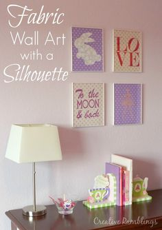 DIY Fabric Wall Art with Silhouette ~ Silhouette School