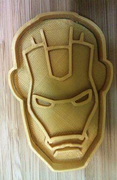 Iron Man Cookie Cutter - Choice of Sizes - 3D Printed Plastic #Handmade3DPrint