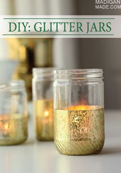 Make these DIY Gold Glitter Jars for your next summer backyard party!