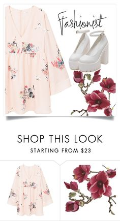 """❤Print Dress Outfit❤"" by puddingis ❤ liked on Polyvore featuring interior, interiors, interior design, home, home decor, interior decorating, MANGO and Crate and Barrel"