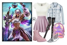 """""""Nemesis - Smite"""" by princesselesa ❤ liked on Polyvore featuring RVCA, Pierre Mantoux, Timberland, Miss Selfridge and BERRICLE"""