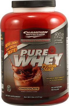 Champion Nutrition Pure Whey Protein Powder Chocolate Top 10 Protein Powder, Protein Powder Reviews, Workout Protein, Champion Nutrition, Supplements For Women, Nutritional Supplements, Organic Recipes, Pure Products