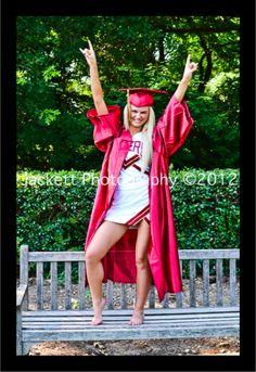 Fun Senior / Cheerleader / Graduation for photo shoot. Botanical Gardens, Fort Worth, TX