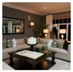Love the coffee table home warme wohnzimmer, wohnzimmer dekorieren, wohnzim Eclectic Living Room, Living Rooms, Apartment Living, Family Rooms, Living Area, Living Spaces, Living Room Ideas Tan Couch, Living Room Decor Dark Furniture, Decorating Ideas For The Home Living Room