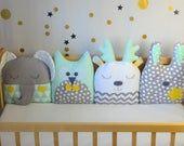 Etsy - Shopping Cart White Crib Bumper, Crib Bumper Set, Bed Bumpers, Kids Pillows, Animal Pillows, Small Crib, Diy Crib, Baby Patchwork Quilt, Crafts