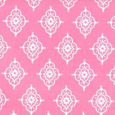 MODA Tradewinds Fabric Little Daisy Medallions Ivory on Light Tea Rose Pink 457 17