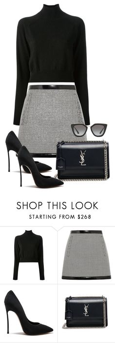 """""""Sin título #3680"""" by camilae97 ❤ liked on Polyvore featuring Alexander Wang, Philosophy di Lorenzo Serafini, Yves Saint Laurent and Prada"""