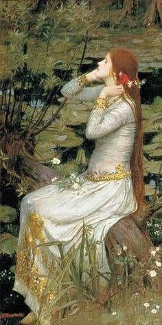 Ophelia Giclee Print by John William Waterhouse at Art.com