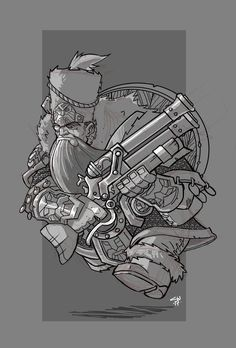 Dwarf Dragoon by on DeviantArt Fantasy Dwarf, Fantasy Rpg, Medieval Fantasy, Character Concept, Character Art, Concept Art, Character Design, The Elder Scrolls, Darkest Dungeon