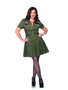 Fly at top speed when you wear this Plus Size Top Gun Flight Dress. If your favorite movie is Top Gun, then this is the costume for you! Dress Up Outfits, Dress Up Costumes, Sexy Outfits, Fashion Dresses, Mermaid Costumes, Top Gun Costume, Plus Size Halloween, Adult Halloween, Halloween Costumes