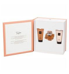 Estuche Lancôme Trésor Edp 50 ml + Regalo Leche + Gel. Perfume de notas intensas que evoca a una mujer femenina. Notas olfativas de flores blancas, almizcle y vainilla.