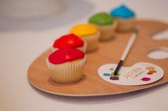 Rainbow cupcakes #rainbow #cupcakes
