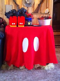 Mickey Mouse gift table for boys baby shower