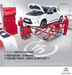 Citroën Service Racing à Chalon / Saône, 1 révision à 4 mains en 1H max et sans surcoût !