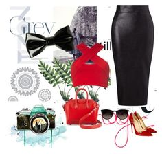""""""":)"""" by mery66 ❤ liked on Polyvore featuring Lipsy, Motel, Givenchy, Ray-Ban, Christian Louboutin and WallPops"""
