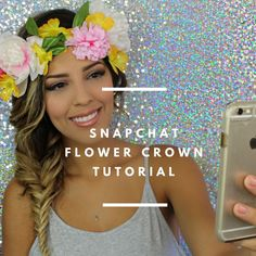 153cd407818 Snapchat Flower Crown Filter Makeup Tutorial