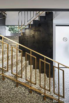 Staircases. 55 Croisette.  Designer: Humbert & Poyet Architecture.