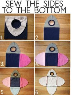 Sew the sides to the bottom.