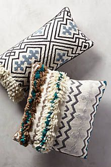 Bed Pillows- Tufted Ariany Pillows from Anthropoligie