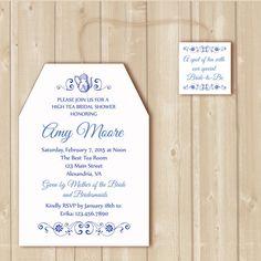 Bridal Tea invitation. High Tea traditional by Alapipetuadesign