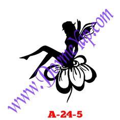 Peri Kızı ( Melek ) Geçici Dövme Şablon Örneği Model No: A-24-5