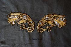 Viking apron: Eagles Embroidery by Zadumana.deviantart.com on @deviantART - --------------(Viking Blog: elDrakkar.blogspot.com)