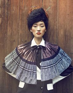 Oriental Fashion inspired by ethnic hmong miao,photographed by Yin Chao http://www.interactchina.com/
