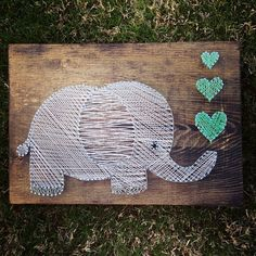 elephant string art | Elephant String Art Wall hanging Nursery Decor by NidifyNursery