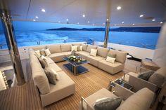 The All Inclusive Luxury Motor Yacht Charter Yacht Luxury, Luxury Yacht Interior, Boat Interior, Luxury Boats, Yacht Design, Catamaran Design, Sunseeker Yachts, Bateau Yacht, Yacht Builders